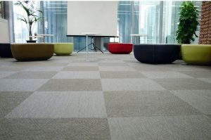 Vinyl fabric floors